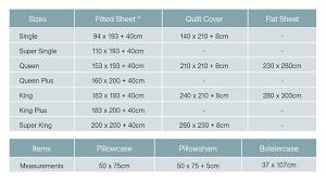 bed sheet u0026 bedding sizes u0026 measurements bedorigin com sg