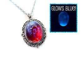 red opal necklace images Glow in the dark mexican opal dragons breath necklace etsy jpg