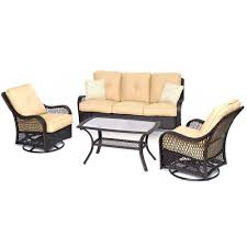 4 Piece Wicker Patio Furniture - rust resistant fire pit sets outdoor lounge furniture the