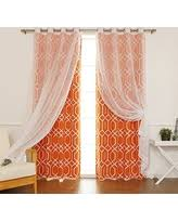 Sheer Curtains Orange Deals Sales On Orange Sheer Curtains