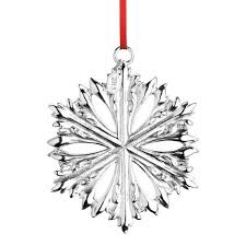 2015 reed and barton siver snowflake ornament