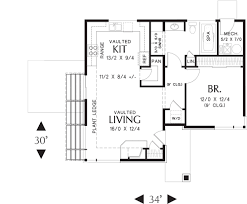 bedroom guest house floor plans small home plan homes amazing 1
