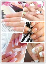 cell phone ipad diy french manicure nail art tips form fring line