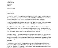100 sample cover letter accounting position general accounting