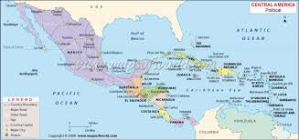 Central America Map And Capitals by Ca And Caribbean By Garrett Mallett