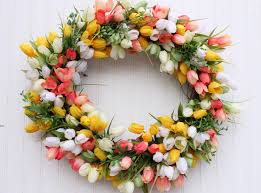 easter wreath tulip wreath spring wreath spring tulip