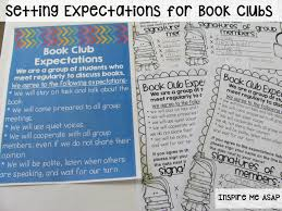 book club expectations book clubs books and school