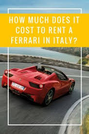 how much are ferraris in italy 458 spider rent luxury sports