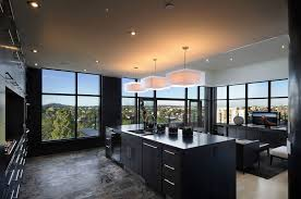 kitchen black kitchen decoration set with outside views 23