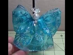 Christmas Decorations Angels Make by How To Make A Beautiful Simple Wired Ribbon Angel Ornament For