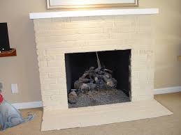 white painting brick fireplace u2014 home design lover the awesome
