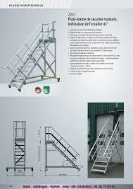 Petit Echafaudage Roulant by P124 P125 2012 Escalier Roulant Avec Plate Forme Inclinaison 45