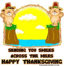 sending you smiles across the happy thanksgiving glitter