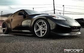nissan 350z black rims rennen forged rf5 x concave wheels on nissan 370z 6speedonline