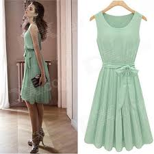 women s dress jm1288 fashionable chiffon sleeveless women s dress green size