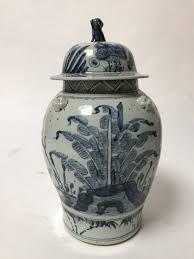 Large White Vases Large Blue U0026 White Chinese Porcelain Vases With Lids
