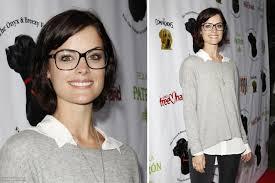 jaimie alexander feminine short hairstyle and glasses