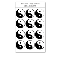 12 small ying yang reflective decals coolhubcaps com