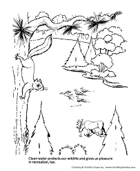 earth day coloring pages ecology protects the clean waters