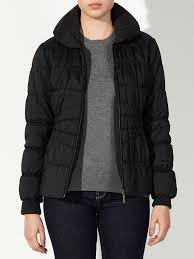 north face lixus jacket john lewis montana quilted jacket in black lyst