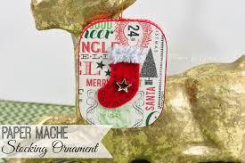 pitterandglink diy vintage inspired paper mache ornament