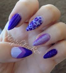 mixed purple design broken nail happilyeverose