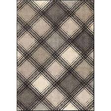 Plaid Area Rug 8 X 11 Gray Plaid Area Rugs Rugs The Home Depot