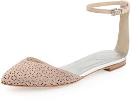 light pink ballet flats brian atwood b by adeena floral cutout ankle strap flat light pink