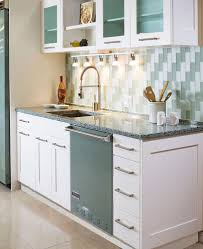 amazing modern kitchen with blue cobalt sky counter tops also