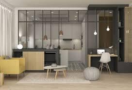 Rénovation appartement Marion Lano séjour cuisine verri¨re
