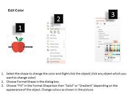 red apple with an arrow for future vision powerpoint template