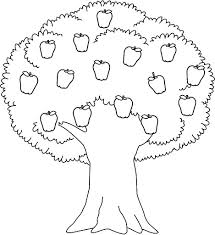 Interesting Design Apple Tree Coloring Pages Printable Sheet For Tree Coloring Pages