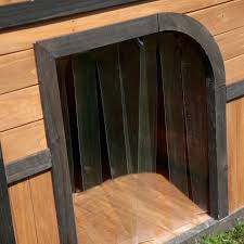 Extra Large Igloo Dog House Boomer U0026amp George Darker Stain Duplex Dog House With Free Dog