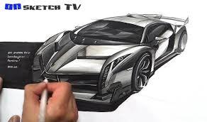 lamborghini veneno advertisement 온스케치 tv car sketch lamborghini veneno sketch color pencil