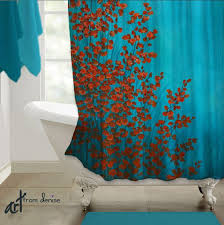 Aqua Blue Shower Curtains Blue And Brown Shower Curtain Curtain Gallery Images