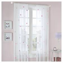 Pink Flower Curtains Shelby Flower Applique Sheer Curtain Panel White Pink 52