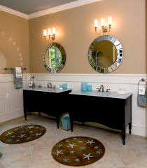 Beachy Bathroom Mirrors by Uttermost Mirrors Powder Room Victorian With Baseboards Bathroom