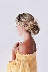 Love This Casual Messy Braided Bun Natural Hair Style Braids