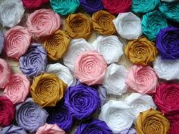 Wholesale Flowers Near Me Fabric Flower Rosettes Silk 2 Inches Set Of 50 Wholesale Flowers