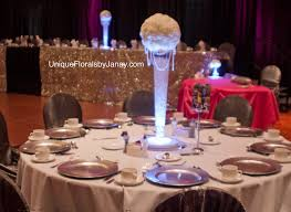 Trumpet Vase Wedding Centerpieces by Tall Trumpet Vase With Carnation Kissing Ball With Hanging Crystal