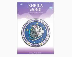 astronaut badge etsy