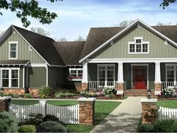 craftsman style exterior house color schemes light brown brick