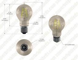 a19 led bulb gold tint victorian style led filament bulb 50