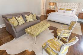 Grey And Yellow Chair Gray Sofa With Yellow Chairs Transitional Bedroom