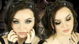 steampunk makeup tutorial bronze smokey eye halloween 2014