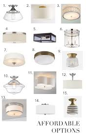 How To Install A Flush Mount Ceiling Light Kitchen Lighting Flush Mount Bell Contemporary Shell Clear
