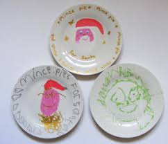 mince pies for santa plates