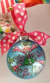 jolly with dots personalized painted ornament in