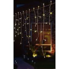 snowing icicle outdoor lights noma snowing icicle lights 144 soft white leds 2515079wsw