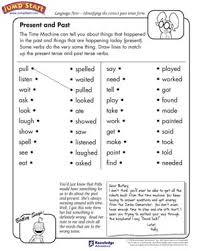 present and past u2013 english and language arts worksheets for kids